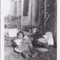 Lily holding Vincent Rojas 1947.jpg